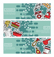 set of horizontal banners about laundry vector image vector image