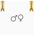 Sex symbol flat icon vector image vector image