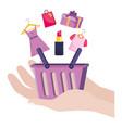 shopping online icon design vector image