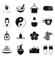 Spa simple icons set vector image vector image