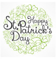 st patrick lettering on floral pattern vector image vector image