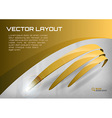 stripes gold vector image