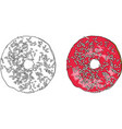 sweet round donut vector image