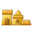 tall sand castle icon cartoon style vector image vector image