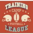 Training camp american football vector image vector image