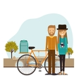 Traveler lifestyle design vector image vector image