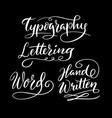 typography hand written typography vector image vector image