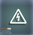 voltage icon symbol on the blue-green abstract vector image