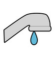 water faucet isolated icon vector image