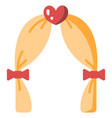 wedding arch flat vector image