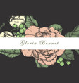 Wedding card suite with vintage flower templates