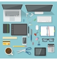 Workspace Icon Set vector image