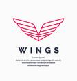 modern wings logo vector image