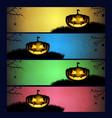 set of halloween banners vector image