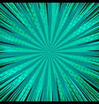 abstract green comic background vector image vector image
