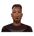 african guy with beard and short hair on white vector image vector image