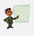 angry black businessman is showing as in a vector image vector image