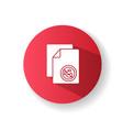 antibacterial wipes red flat design long shadow vector image vector image