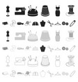 atelier and sewing cartoon icons in set collection vector image vector image