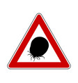 attention sign tick on white vector image vector image