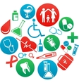 background with medicine icons and elements vector image vector image
