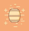 beer barrel wooden icon vector image