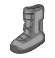 Boot for snowboarding icon gray monochrome style vector image vector image