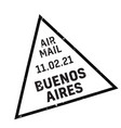 buenos aires postage stamp vector image