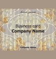 business card baroque rich vintage vector image