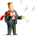 Businessman getting freedom vector image