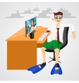 businessman in shorts with swim vector image vector image