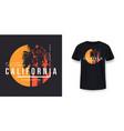 california los angeles t-shirt design t shirt vector image vector image