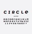 circle glitch font alphabet vector image vector image