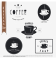Coffee shop The food and service Set of vector image