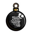Color vintage black friday sale emblem vector image