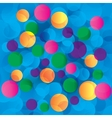 Colorful circles abstract light background vector image vector image