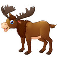 cute moose cartoon vector image