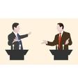 Debate two speakers Political speeches debates vector image vector image