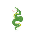 doodle icon snake traditional tattoo flash vector image vector image
