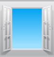 double window into sky vector image vector image