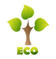 eco logo green tree vector image vector image