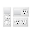 electrical socket type b with switch realistic vector image