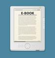 electronic book flat design concept eps 10 vector image