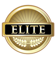 Elite Gold Label vector image vector image