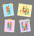 family happy people pictures vector image