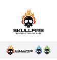 fire skull logo symbol d vector image