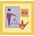 flat shading style icon safety lessons vector image