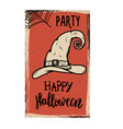 flyer template halloween party witch hat vector image vector image