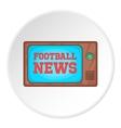 Football news on TV icon cartoon style vector image