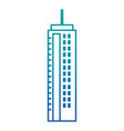 futuristic building isolated icon vector image vector image